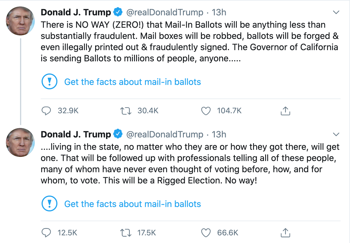 DJT Tweets (on Election Fraud)
